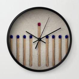 tall match leadership Wall Clock
