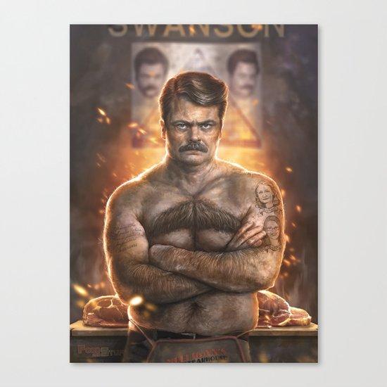 Ron ****ing Swanson Canvas Print