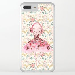 Isabella Bellarina Dancing in Flowers Clear iPhone Case