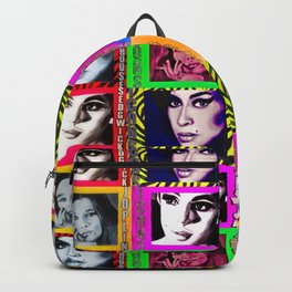 LIZ SELLEY ART ICONS PAINTINGS COLLAGE Backpack