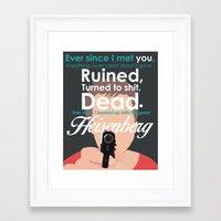jesse pinkman Framed Art Prints featuring Jesse Pinkman by Nikki White