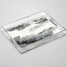 clouds_december Acrylic Tray