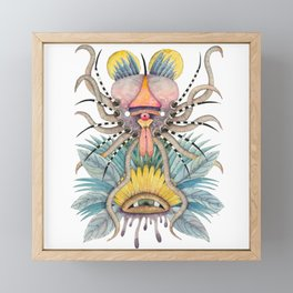 Crab-Insect facing the eye Framed Mini Art Print