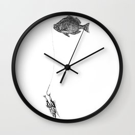 Fish Mnan Wall Clock
