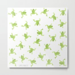 Raining Frogs Metal Print