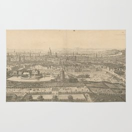 Vintage Pictorial Map of London England (1750) Rug
