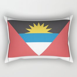Flag of Antigua and Barbuda.  The slit in the paper with shadows. Rectangular Pillow