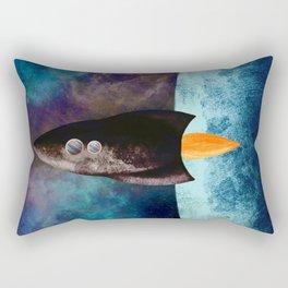 Little Brown Rocket Rectangular Pillow