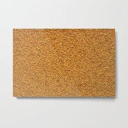 Aromatic fenugreek seeds background Metal Print