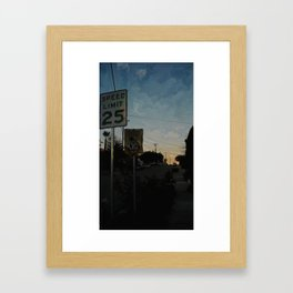 Suburban Sublime Original Framed Art Print