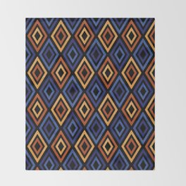Tribal Diamond Pattern Throw Blanket