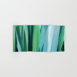 blue and green leaves Hand & Bath Towel