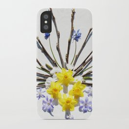 Spring flowers and branches I iPhone Case
