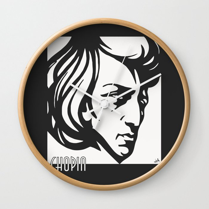Art Deco Style Chopin Wall Clock By