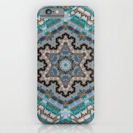 Aqua, Gold and Blue Tile 2 iPhone Case