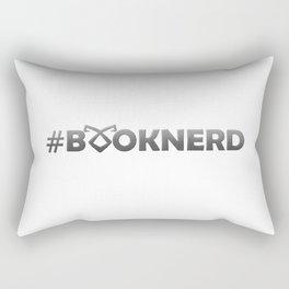 #BOOKNERD with rune Rectangular Pillow