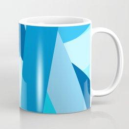 Retro Blue Mid-Century Minimalist Geometric Line Abstract Art Coffee Mug