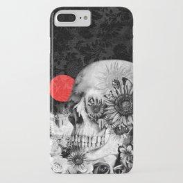Fire in the dark, nature skull iPhone Case