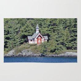 St Isaac Jogues Chapel, Hecker Island (Lake George, NY) Rug