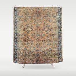Kashan Floral Persian Carpet Print Shower Curtain