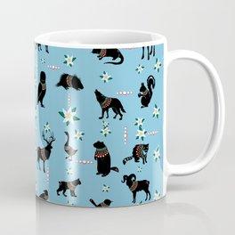 Winter Forest Critters + Edelweiss Coffee Mug