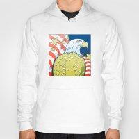 patriotic Hoodies featuring Patriotic Eagle by whiterabbitart