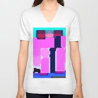 blur V-neck T-shirts featuring Blur by allan redd