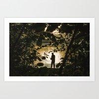 fishing Art Prints featuring Fishing by Svetlana Korneliuk