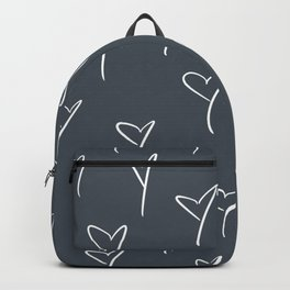 Blue-Gray Hearts Backpack