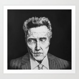 Portrait of Christopher Walken Art Print