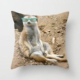 Sunny Meerkat Throw Pillow