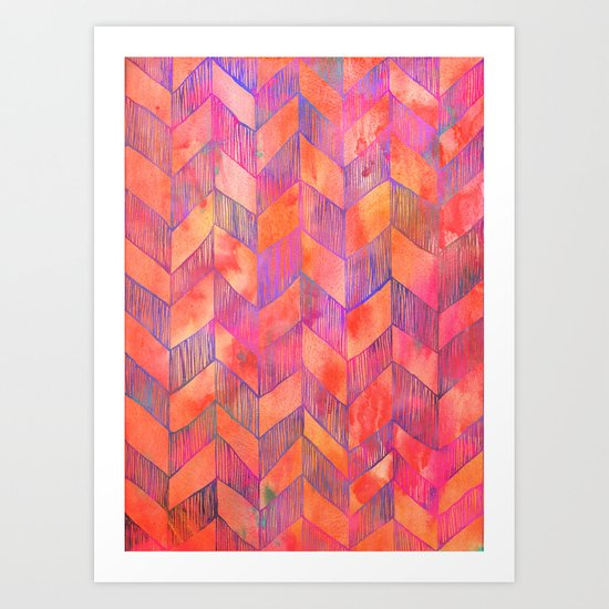 PATTERN {Chevron 012} Art Print