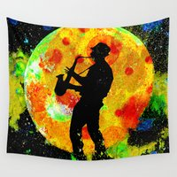 new orleans Wall Tapestries featuring New Orleans  by Saundra Myles