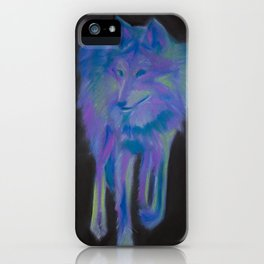 expressionistic wolf iPhone Case