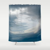 portal Shower Curtains featuring Portal by Nur Mut