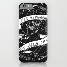 Per Aspera Ad Astra (White) iPhone Case