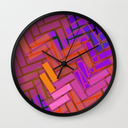 Pop Colored Blanks Wall Clock