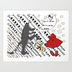 Little Red Riding Hood by Piarei Art Print