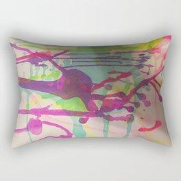 Water Color Frenzy Rectangular Pillow