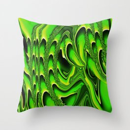 TIDAL WAVE | chartreuse Throw Pillow