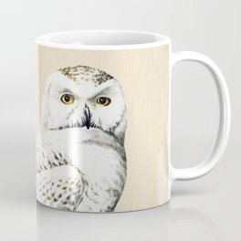 Vintage Owl on Wood Coffee Mug