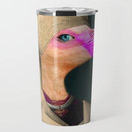 Portrait of a Flamingo Travel Mug