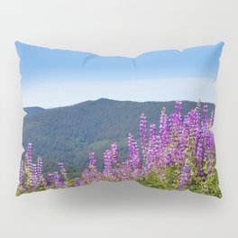 The Lupines in the Hills Pillow Sham