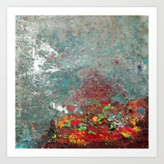 Abstract Distressed #3 Art Print