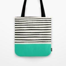 Mint x Stripes Tote Bag