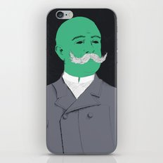 Stache man iPhone & iPod Skin