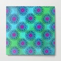 Teardrop Concentric Circle Pattern (Turquoise and Blue) by roxygart