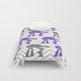 Star Wars At-Ats in Grays and Purple Comforters