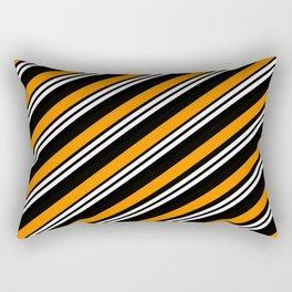 TEAM COLORS 1.....orange ,black Rectangular Pillow