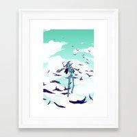 flcl Framed Art Prints featuring FLCL by sarlisart